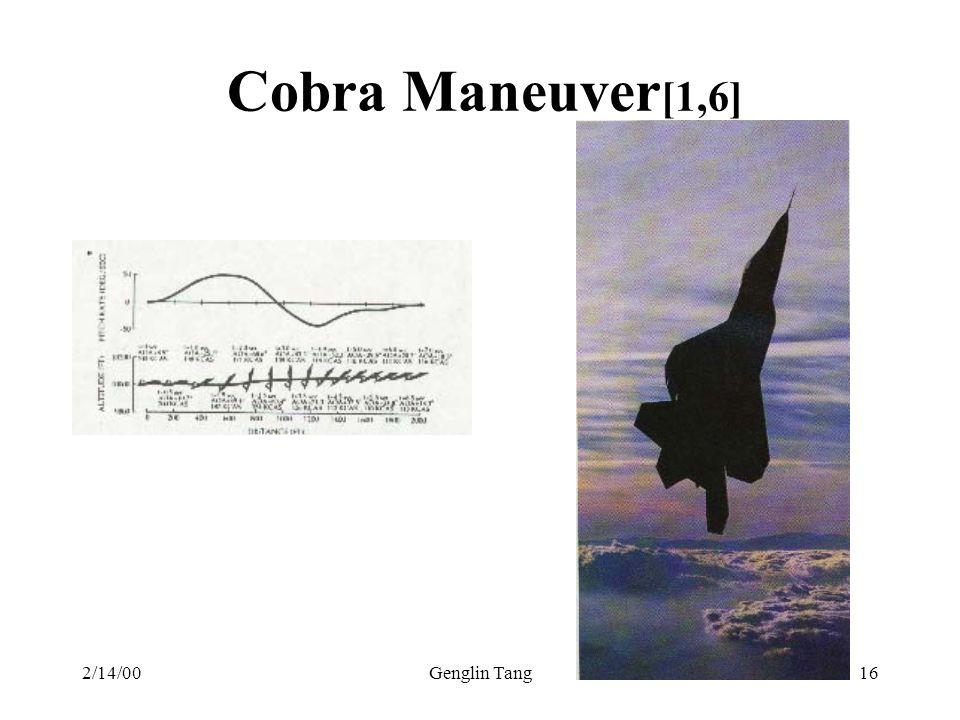 Cobra Maneuver[1,6] 2/14/00 Genglin Tang